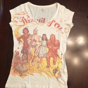 Wizard of Oz V neck. Follow the yellow brick road